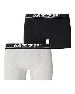 MZ72 Brand MZGZ Boxer Double Pack Black/Grey