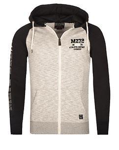MZ72 Brand Jink Hoodie Grey/Black
