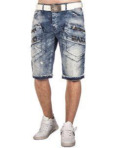 Cipo & Baxx CK169 Denim Shorts Light Blue