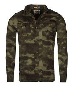MZ72 Brand Dilitar Shirt Green Camo