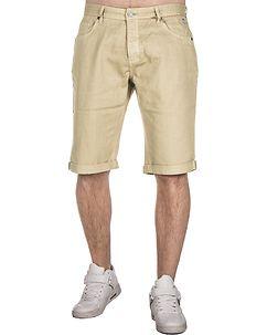 MZ72 Brand Alain Bermuda Shorts Beige