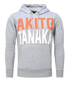 Akito Tanaka Skate Hoodie Grey/Orange