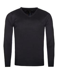 MZ72 Brand Sign V-Neck Knit Navy/Black