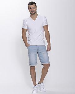 MZ72 Brand Fame Shorts Denim Light Blue