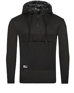 MZ72 Brand Jaw Hoodie Black Melange