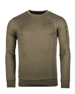 MZ72 Brand Jets Sweatshirt Olive Green