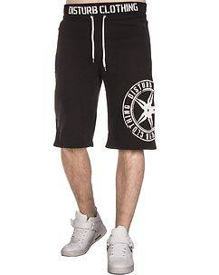 Disturb Clothing Throwing Athletic Shorts Black/White
