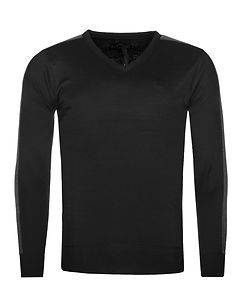 MZ72 Brand Sign V-Neck Knit Black/Grey