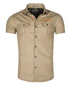 MZ72 Brand Crisp T-Shirt Beige