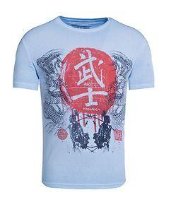 Akito Tanaka Dragons Fight T-Shirt Blue