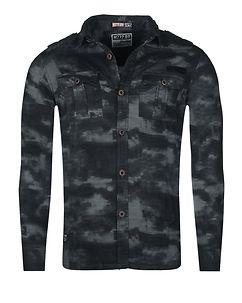 MZ72 Brand Dilitar Shirt Black Camo