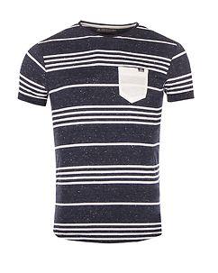 MZ72 Brand Tandory T-Shirt Deep Navy/White