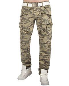 Cipo & Baxx CD336C Cargo Pants Stone Camo
