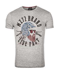 MZ72 Brand The Knife T-Shirt Light Grey Melange