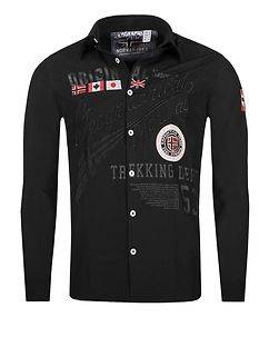 Geographical Norway Zoliday Shirt Black