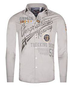 Geographical Norway Zoliday Shirt Grey