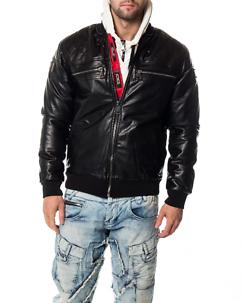 Cipo & Baxx CJ176 Leather Jacket Black