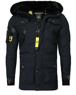 Geographical Norway Acore Parka Jacket Navy