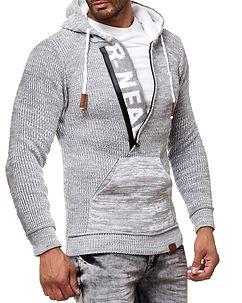 Rusty Neal Dexter Knit Hoodie Grey