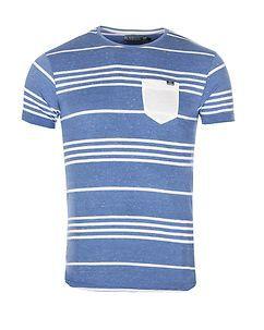 MZ72 Brand Tandory T-Shirt Blue/White