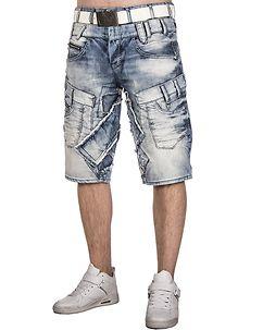 Cipo & Baxx CK182 Denim Shorts Light Blue