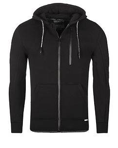 MZ72 Brand Lonas Hooded Jacket Black