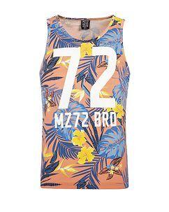 MZ72 Brand Pineapple Tank Top Coral