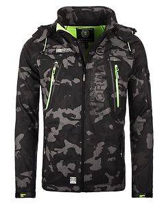 Geographical Norway Techno Softshell Jacket Camo Black/Green