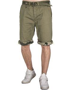 MZ72 Brand Flax Shorts Green Olive