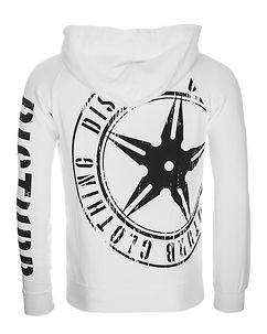 Disturb Clothing DSTRB Hoodie White/Black