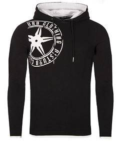 Disturb Clothing Logo Hoodie Black/White