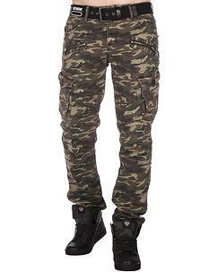 Cipo & Baxx CD336 Cargo Pants Green Camo