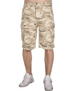 MZ72 Brand Foy Shorts Beige Camo