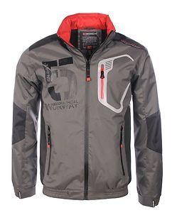 Geographical Norway Calife Windbreaker Jacket Dark Grey