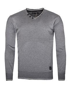 MZ72 Brand Soft V-Neck Knit Grey
