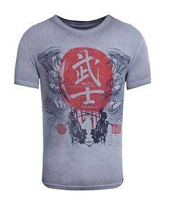 Akito Tanaka Dragons Fight T-Shirt Anthracite