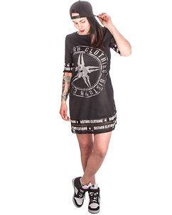 Disturb Clothing DSTRB Mesh Dress Black