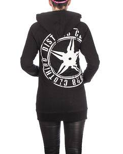 Disturb Clothing Throwing Star Women Hoodie V2 Black/White