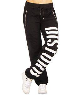 Disturb Clothing DSTRB W Sweat Pants Black/White