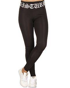 Disturb Clothing Disturb Logo Waist Leggings Black
