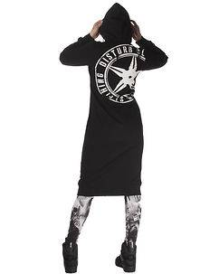 Disturb Clothing Gadji Long Hoodie Black