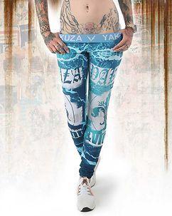 Yakuza Ink Poseidon Sports Leggings Turquoise