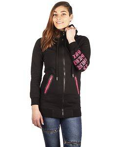 Disturb Clothing Throwing LIMITED GRL Hoodie Black/Pink
