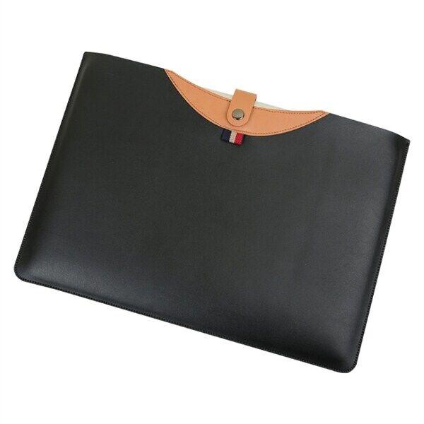 """Image of Kotelo kannettavalle tietokoneelle nahkaa magneettisulkijalla MacBook Air 15.4"""" tuuman musta+ruskea"""