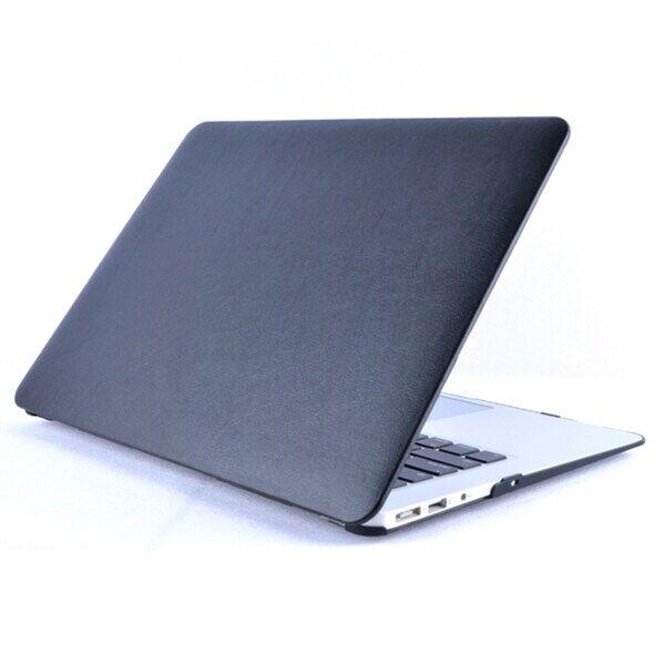 Suokakuori Keinonahkaa MacBook Pro 15.4 inch A1990 2018 / A1707 2016 - 2017 Svart
