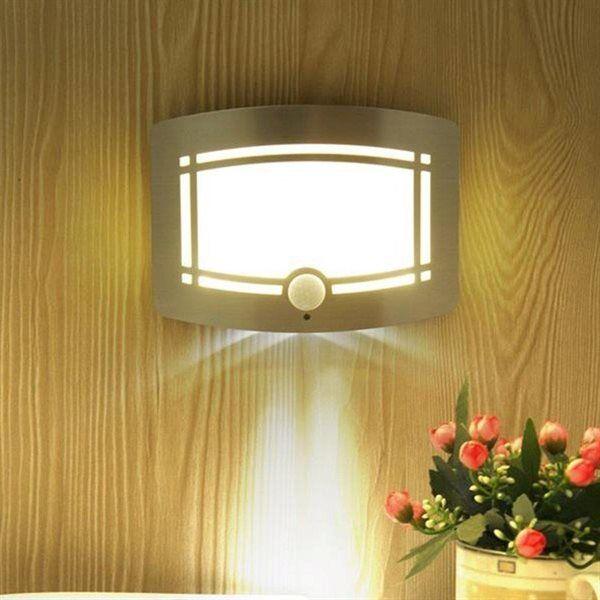 24hshop Seinävalaisin liiketunnistimella - LED paristokäyttöinen