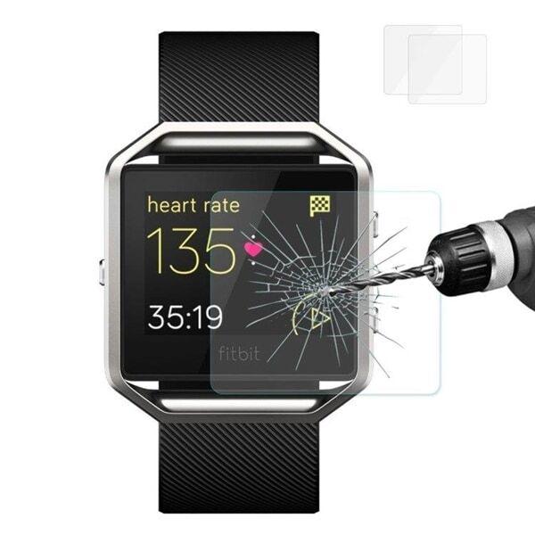 Näytönsuoja karkaistua lasia Fitbit Blaze - 2PAKKAUS