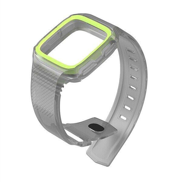 Silikoniranneke Fitbit Versa Harmaa/Vihreä