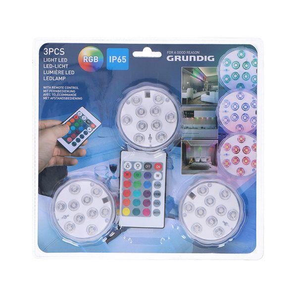 24hshop Grundig LED RGB Spotlight kaukosäätimellä