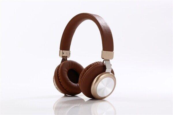 24hshop Langaton on ear headset - Ruskea